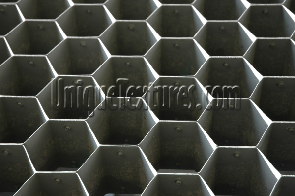 hexagon pattern shadow architectural metal black gray