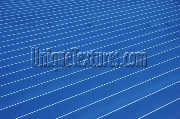 roof angled oblique pattern grooved industrial architectural metal paint blue