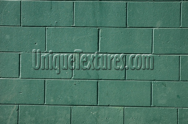 fence rectangular architectural brick paint green