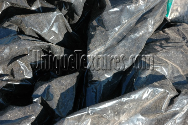 sheets random wrinkled industrial plastic black shadow