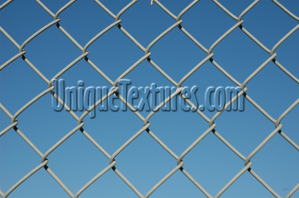 fence diamonds pattern industrial metal sky blue