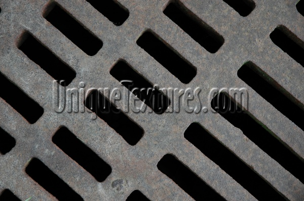 vent/drain angled industrial metal gray