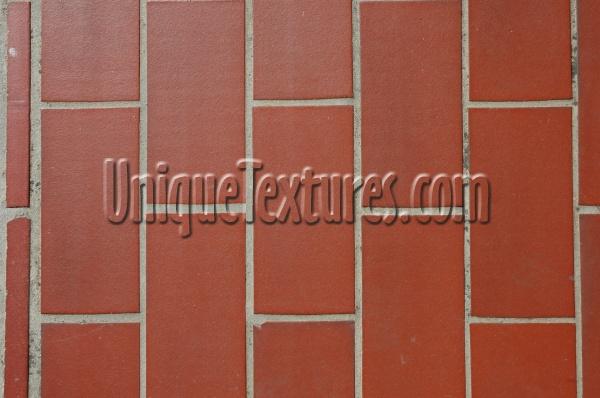 Floor Rectangular Architectural Tile Ceramic Red