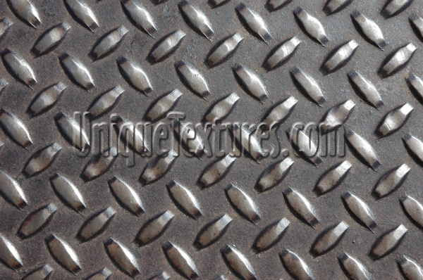 manhole diamonds pattern shiny industrial metal metallic