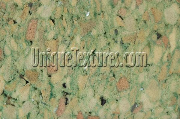 Carpet Random Fabric Green Padding