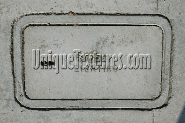 door manhole textual industrial concrete gray