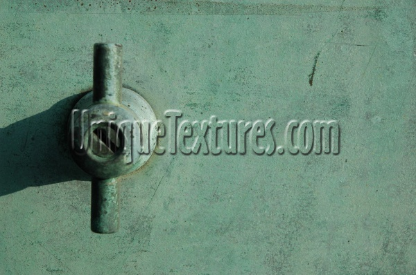 door handle rusty marine metal metallic green