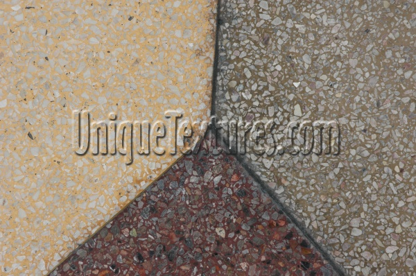 multicolored concrete architectural grooved angled floor