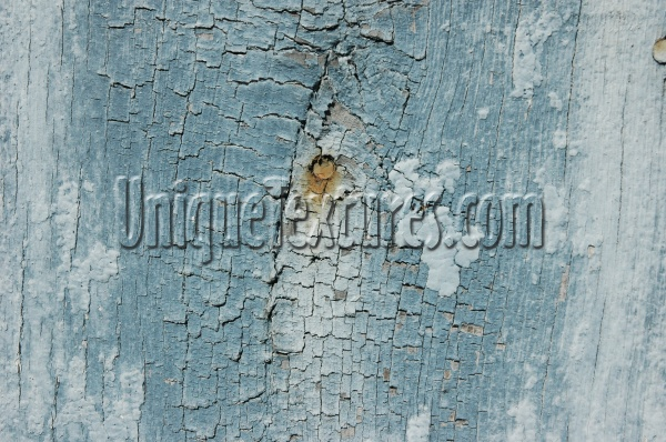blue paint wood architectural weathered cracked/chipped vertical fence boards