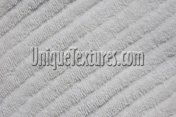 angled furry industrial fabric white
