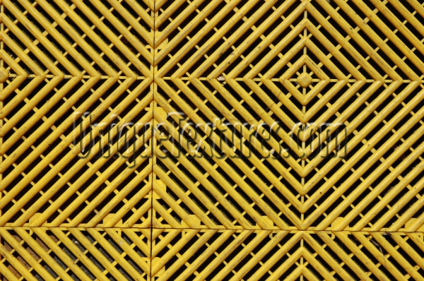 yellow plastic architectural grooved angled floor