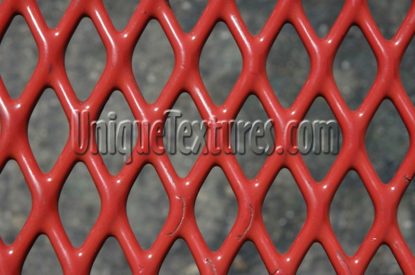 furniture diamonds pattern scratched architectural metal paint red