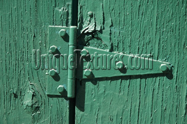 green paint metal wood architectural fence fixture