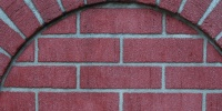 window curves pattern architectural brick red