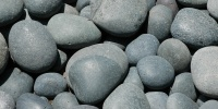 floor round natural stone gray gravel