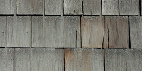 roof rectangular pattern weathered architectural wood gray