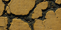 street random cracked/chipped vehicle asphalt yellow