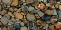 floor random wet natural stone multicolored gravel