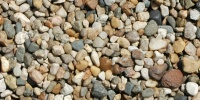 gravel floor random natural stone tan/beige