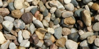 gravel spots natural stone tan/beige