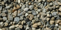 gravel floor random natural stone gray