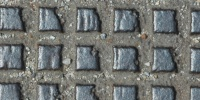manhole square pattern industrial metal gray