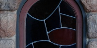 architectural glass stone multicolored window