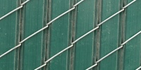 slats fence angled industrial plastic green