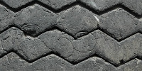 wheel pattern grooved vehicle rubber black