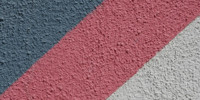 wall angled retro architectural stucco/plaster vibrant multicolored