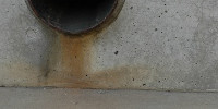 vent/drain wall spots industrial concrete gray