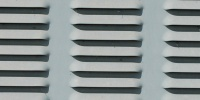 vent/drain pattern industrial metal gray