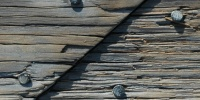 angled weathered marine wood  dark brown