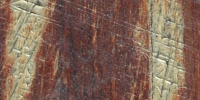 scratched marine   fiberglass dark brown
