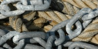 galvanized weathered marine rope metal multicolored
