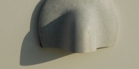 vent/drain curves shadow marine metal white