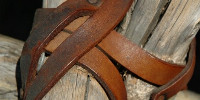 fence cracked/chipped       weathered architectural leather rope wood dark brown