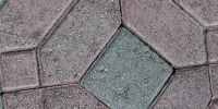 floor pattern cracked/chipped architectural brick multicolored pink