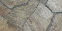 tan/beige stone architectural cracked/chipped random floor