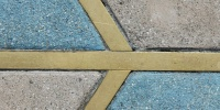 multicolored concrete metal architectural angled floor