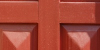 door rectangular shadow architectural wood paint red