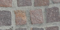 floor square architectural brick red