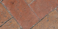 floor rectangular pattern    architectural brick red