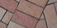 floor angled rectangular architectural brick multicolored