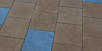 floor square oblique architectural tile/ceramic multicolored