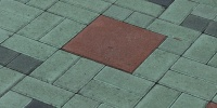 floor rectangular oblique pattern architectural brick multicolored