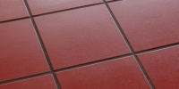 floor square oblique pattern architectural tile/ceramic red