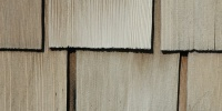 tan/beige wood architectural bleached weathered rectangular roof slats