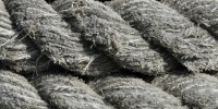gray rope marine bleached weathered curves
