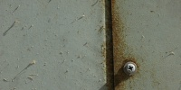 gray paint metal mech/elec weathered shadow fastener door